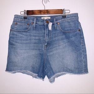 Madewell denim shorts 31 waist high rise